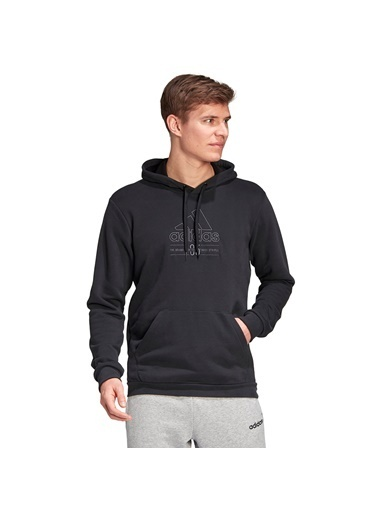 adidas M Bb Hd Sw Erkek Siyah Günlük Stil Sweatshirt Gd3831 Siyah